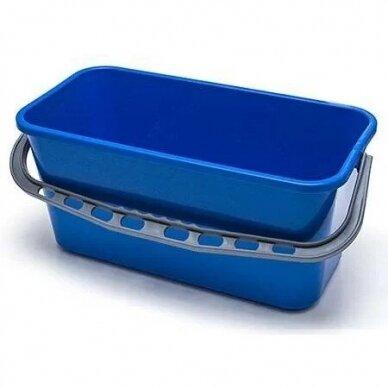 Kibiras plastikinis 35 cm ilgio mėlynas, 13 L