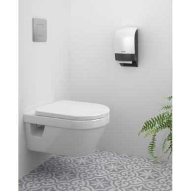 Laikiklis tualetiniam popieriui KATRIN INCLUSIVE SYSTEM TOILET DISPENSER, Baltas 2