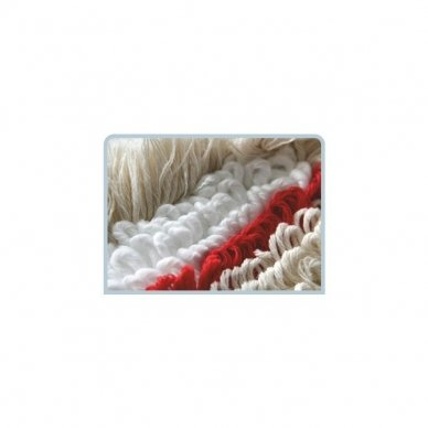 Grindų šluostė su kišenėmis ARCORA HOSPITAL QUATTRO, Raudona, 40 cm 3