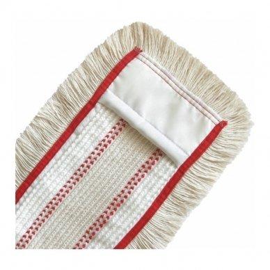 Grindų šluostė su kišenėmis ARCORA HOSPITAL QUATTRO, Raudona, 40 cm