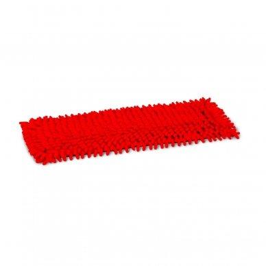 Grindų mikropluošto šluostė  CHENILE su kišenėmis, Raudona, 40 cm