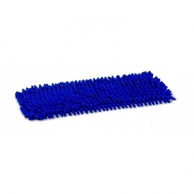 Grindų mikropluošto šluostė CHENILE  su kišenėmis, Mėlyna, 50 cm